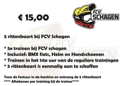 5 rittenkaart bij FCV Schagen e.o.