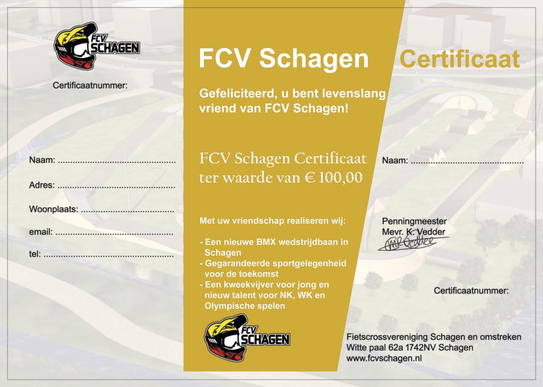FCV Schagen Certificaat