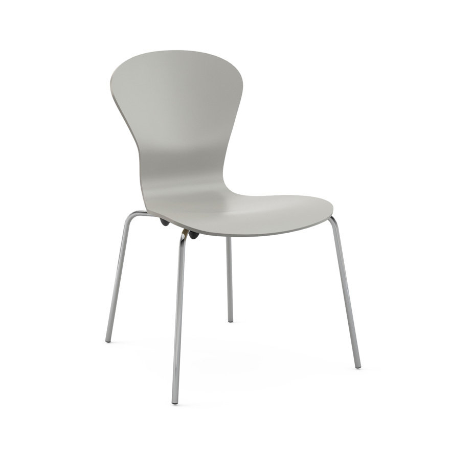 Knoll Sprite Stacking Chair KN 27C-SL-SL-C