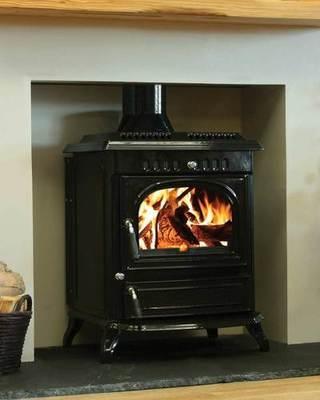 00142 Henley Stoves - Blasket 21 Black Enamel Boiler Stove