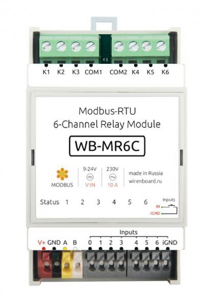Modbus-RTU Relay Module (WB-MR6C) 00135