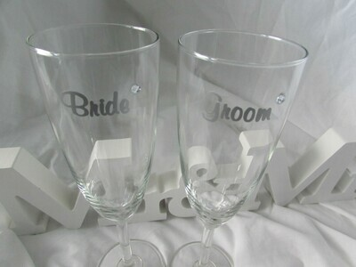 Personalised Champagne Flutes Pack One