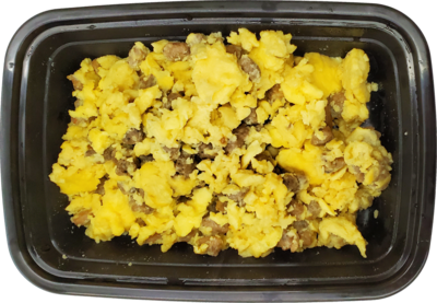 Keto Cheesy Sausage Scramble