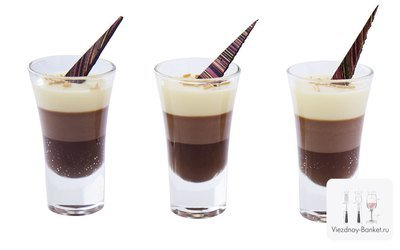 Баваруаз из трех видов шоколада, 20 шт.