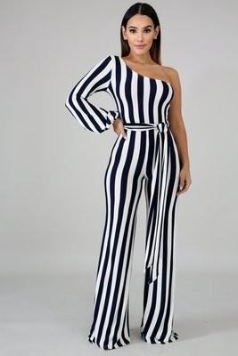 Nautical Stripe Jumpsuit