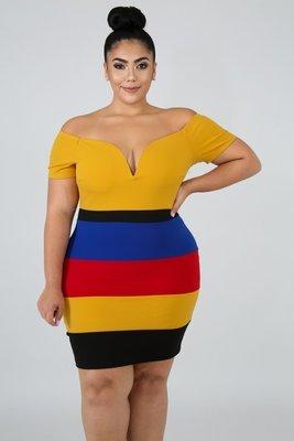 Color Block Body-Con Dress