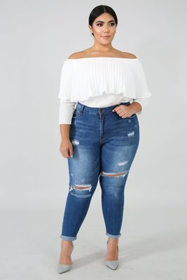 Denim Skinny Crop Jeans