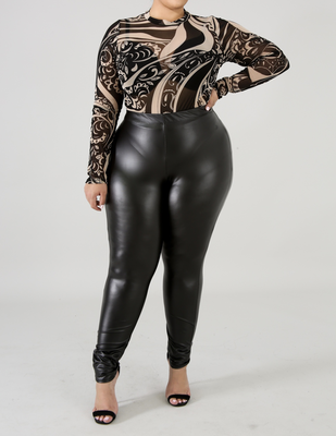 Biker Leatherette Pants