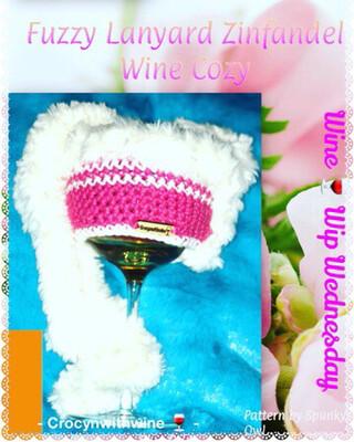 Zinfandel Fuzzy Wine Glass Cozy