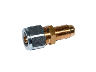 Переходник соединитель для термопластиковой трубки/медь 6x6