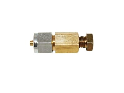 Переходник соединитель для термопластиковой трубки/медь 8x8