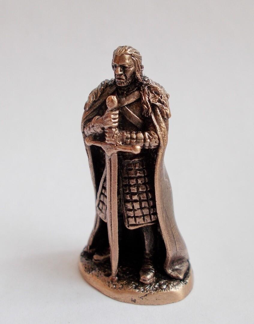 40mm Lord Eddard Stark, Game Of Thrones brass miniature