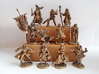 The Black Company brass miniatures set - 11 figure (10 + 1 free)