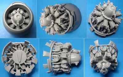 1/48 A-26B/C Invader engines set (ICM kit) Vector resin: VDS48125