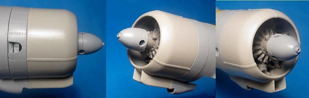 1/48 Su-2 Corrected Cowl & Engine Vector resin for Zvezda: VDS48072