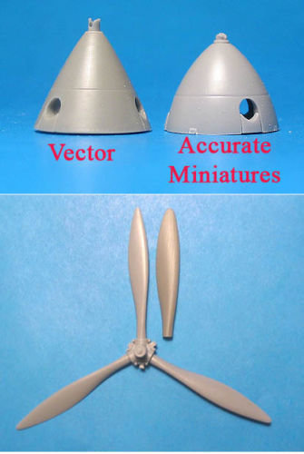 1/48 Il-2 Prop & Spinner Vector Resin for Accurate Miniature: VDS48026
