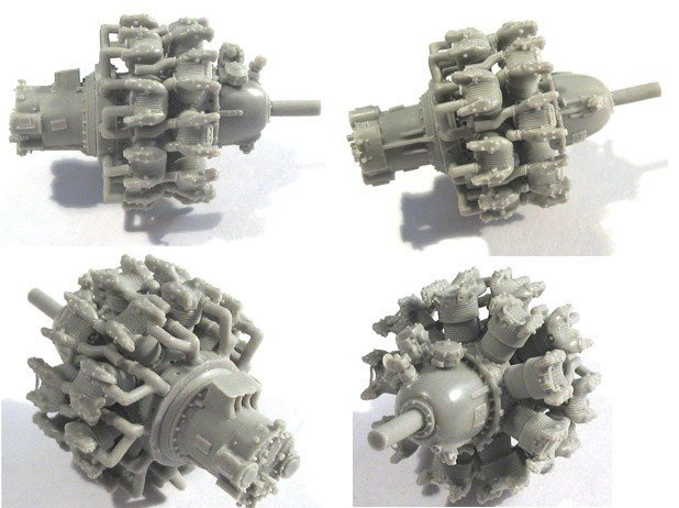 1/48 P&W R-2800 A/B (early) Engine Vector resin 48-003