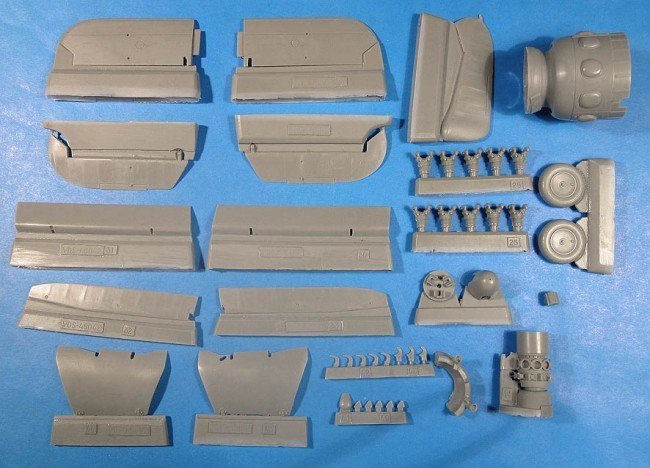 1/48 Henschel Hs-126 Exterior Detail Set Vector resin for ICM: VDS48042