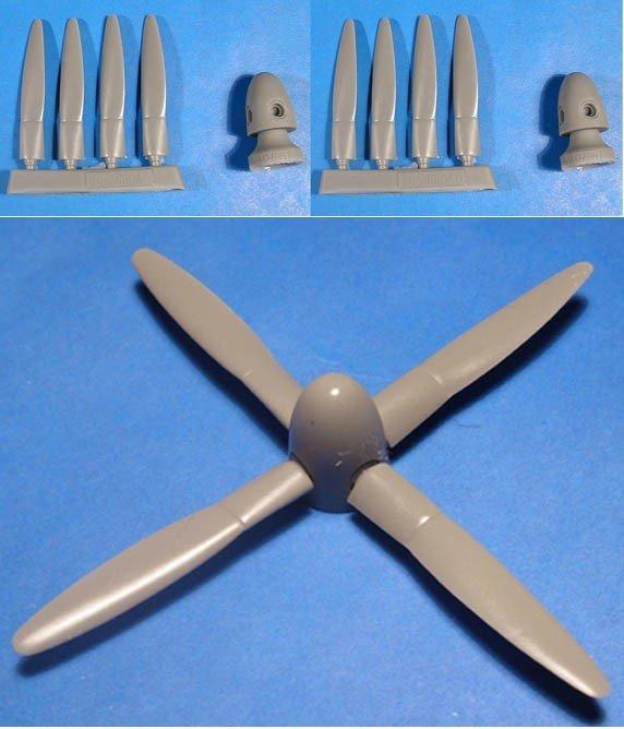 1/48 P-61 Black Widow propeller & spinner set Vector resin for Monogramm: VDS48045