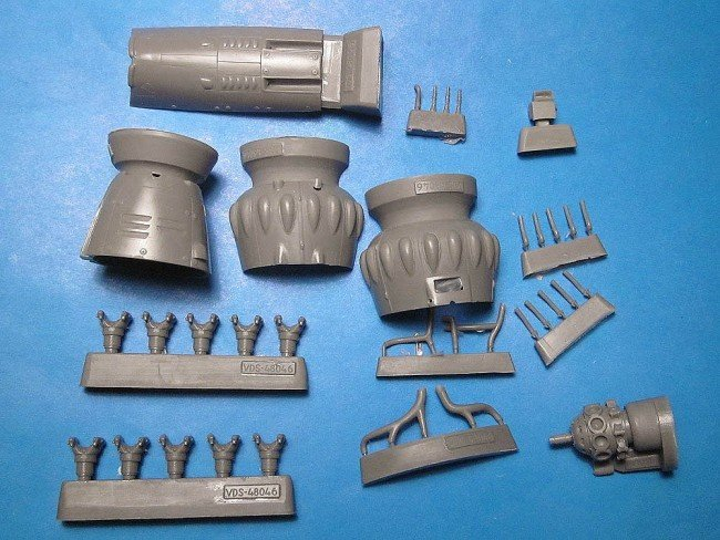 1/48 Henschel Hs-123 A/B Exterior Detail Set Vector resin for Italeri/Revell/Tamiya: VDS48046