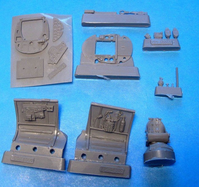 1/48 Henschel Hs-123 A/B Cockpit Vector resin for Revell/Italeri/Tamiya : VDS48049
