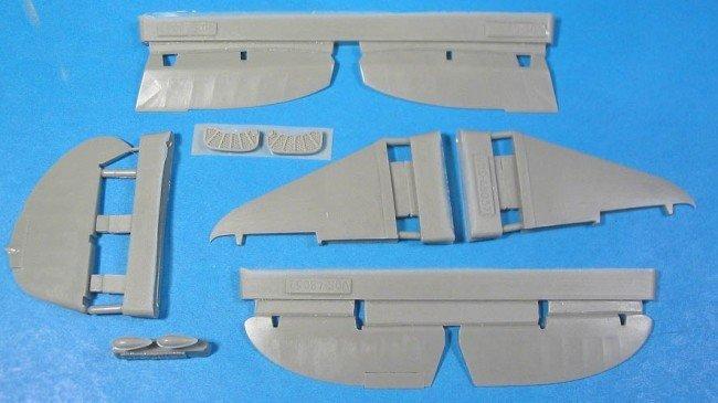 1/48 La-5 Control Surfaces Vector resin for Zvezda kit: VDS48037