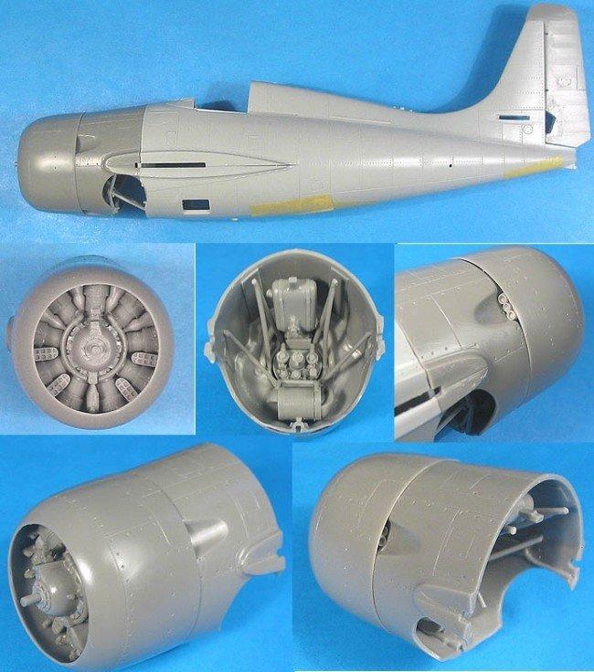 1/48 FM-2 Wildcat Correction Set Vector resin for HobbyBoss: VDS48022