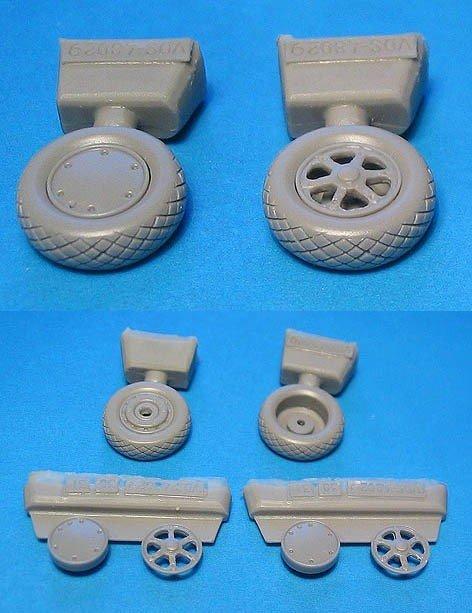 1/48 Wildcat Wheels Diamond Tread Vector resin for HobbyBoss: VDS48029