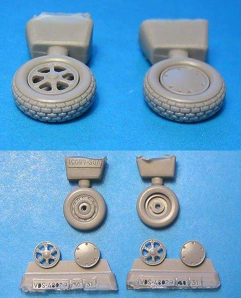 1/48 Wildcat Wheels Block Tread Vector resin for HobbyBoss: VDS48030