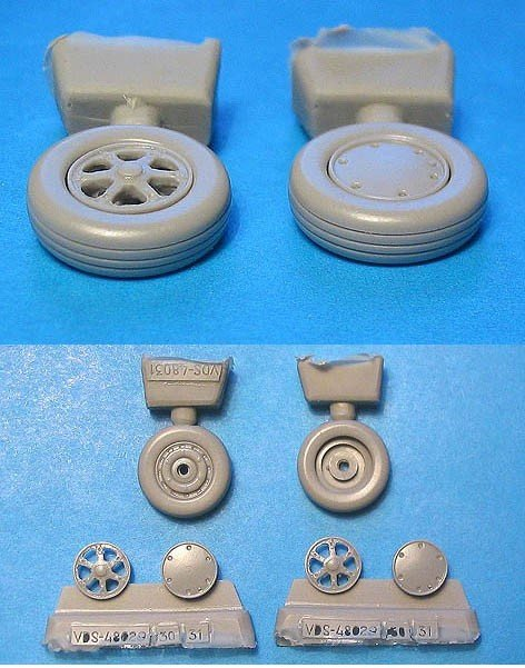 1/48 Wildcat Wheels Radial Tread Vector resin for HobbyBoss: VDS48031