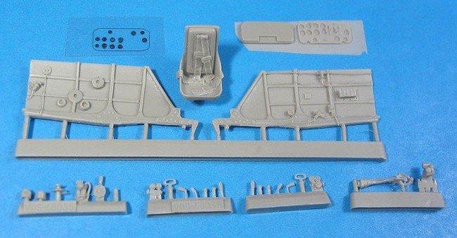 1/48 La-5FN Cockpit Set Vector resin for Zvezda: VDS48035
