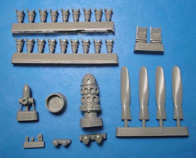 1/48 P-47N Thunderbolt engine prop exhaust Vector resin for Academy: VDS48087