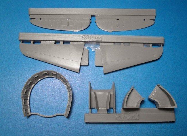 1/48 P-47D Thunderbolt Exterior set Vector resin for Tamiya: VDS48090