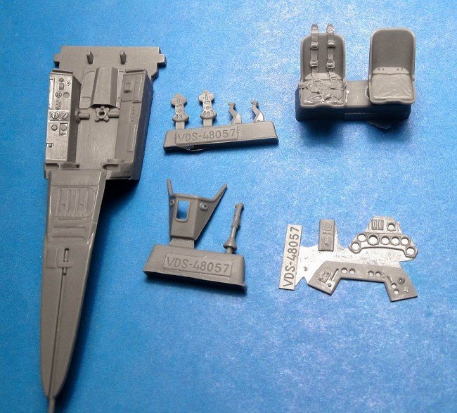 1/48 Fw-190A-5/A-8 Cockpit Set Vector resin for Hasegawa: VDS48057