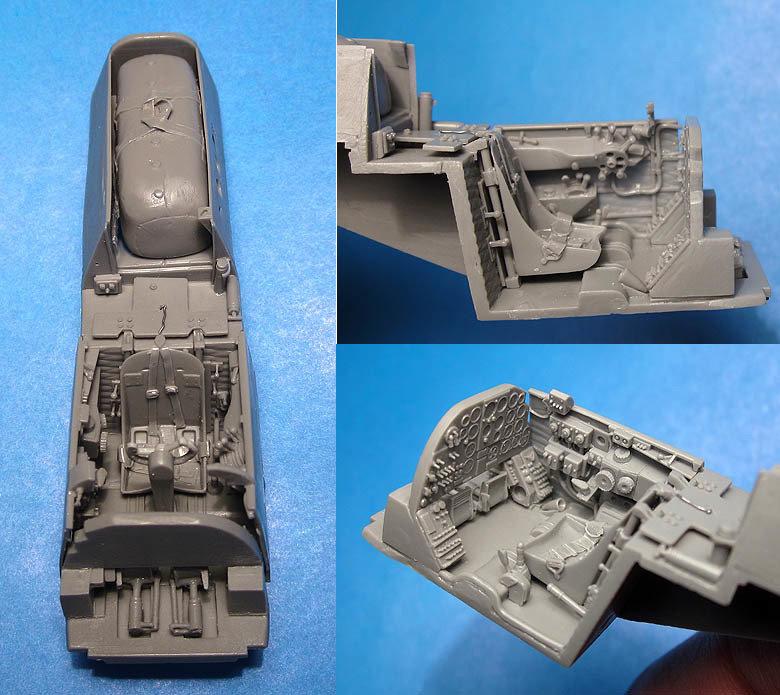 1/48 A-20G/J Boston/Havoc pilot cockpit, Vector resin for AMT/Revell/Italeri: VDS48092