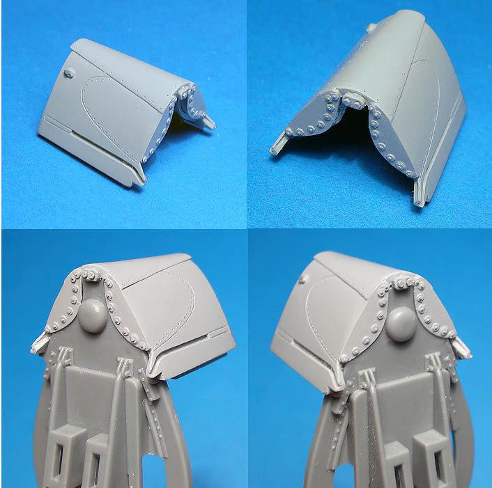 1/48 F4U-1 Birdcage Corsair reinforsed turtledeck Vector resin for Tamiya : VDS48098