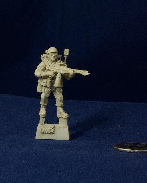 Aliens movie 28mm Colonial Marine miniature UM3
