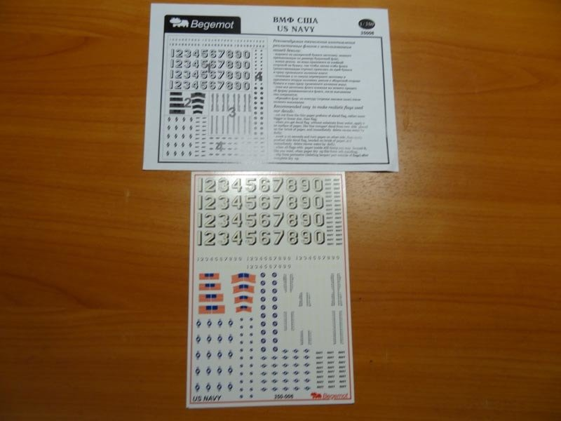 1/350 US NAVY Decal Begemot