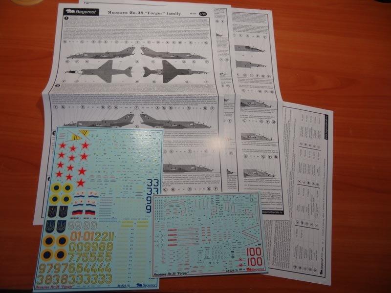 1/48 Yakovlev Yak-38 Forger family Decal Begemot