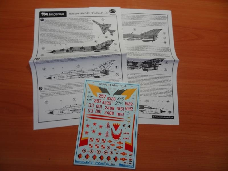 1/72 Mikoyan MiG-21, part 2 Decal Begemot