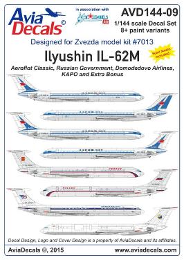 1/144 Ilyushin IL-62M decal AviaDecals #AVD144-09