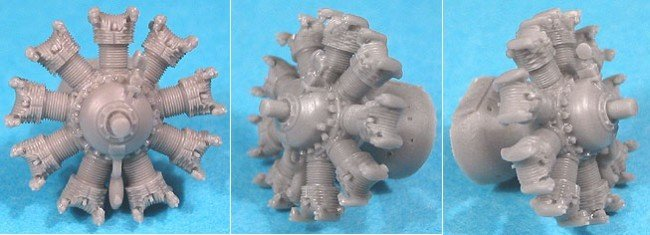 1/72 Wright R-1820G (mid.) Engine Vector Resin #72-007