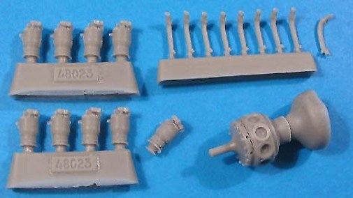 1/48 LeRhone 80 hp Engine Vector Resin #48-023