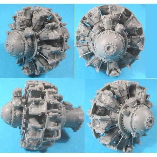 1/32 Pratt & Whitney R-2800 C (late) Engine Vector Resin #32-002