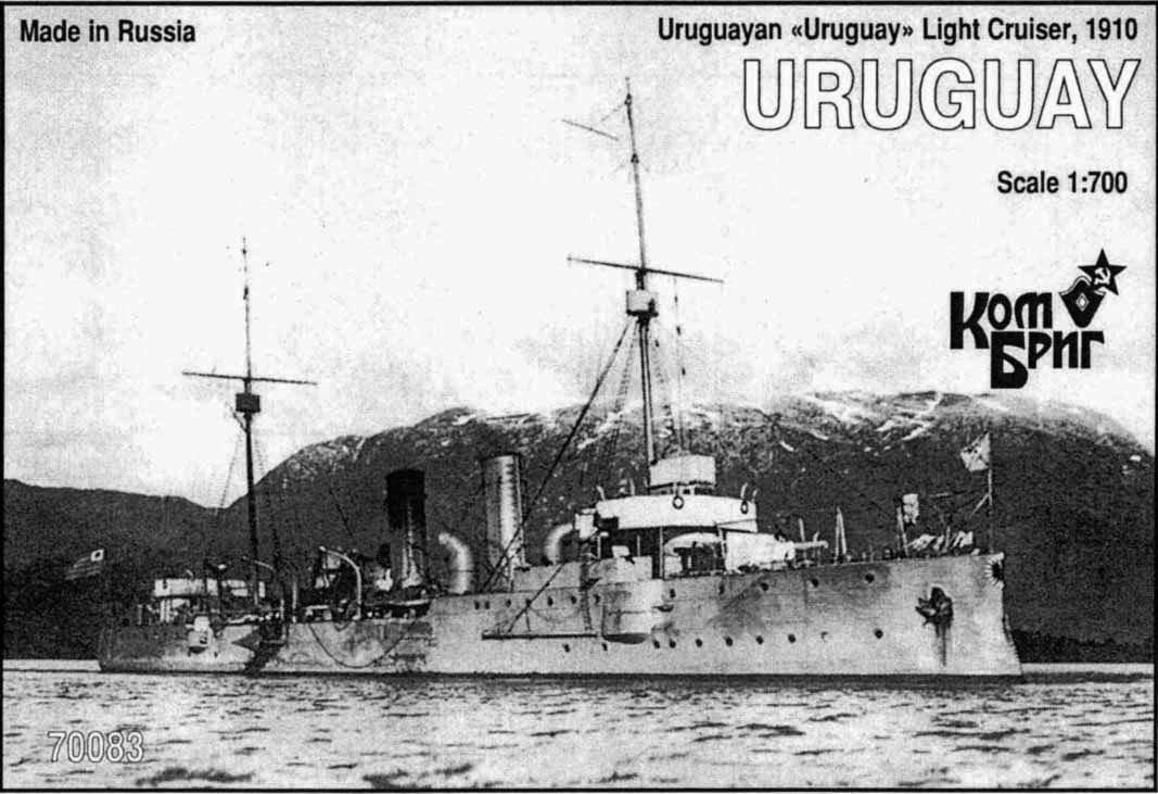 Combrig 1/700 Cruiser Uruguay, Uruguay, 1910 resin kit #70083PE