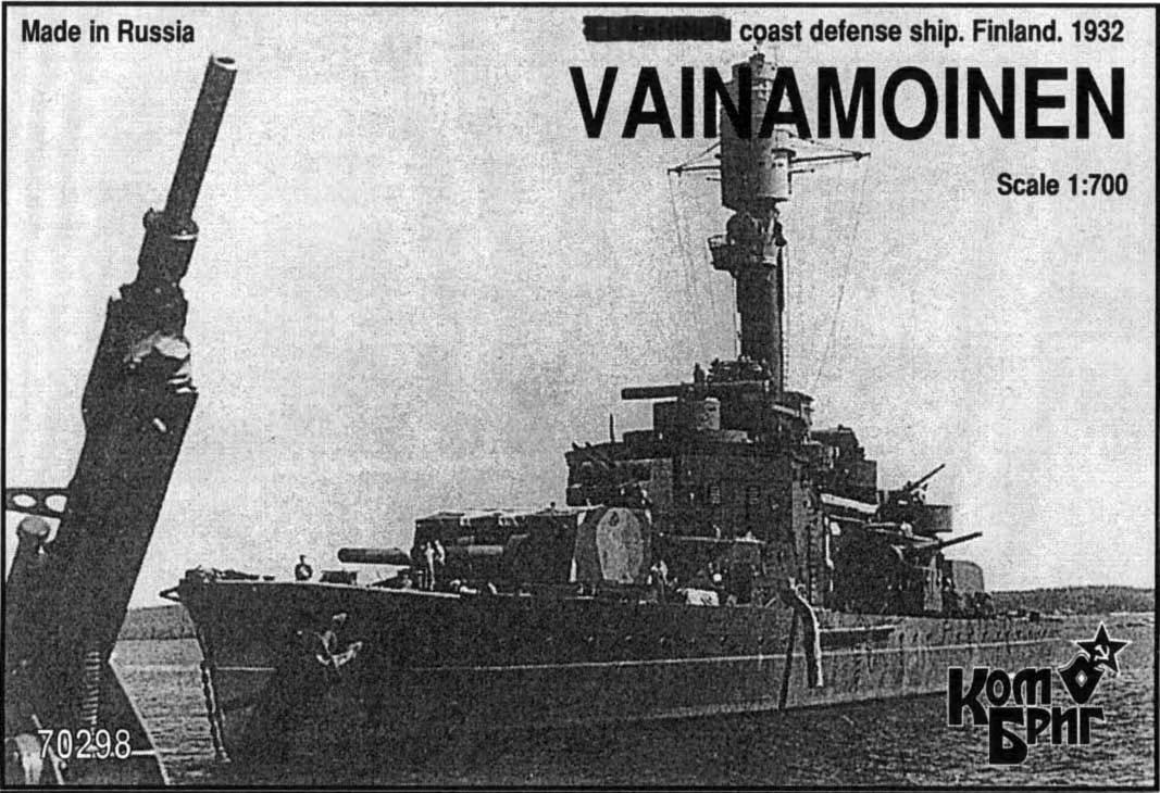 Combrig 1/700 Coast Defense Ship Vainamoinen, Finland, 1932, resin kit #70298