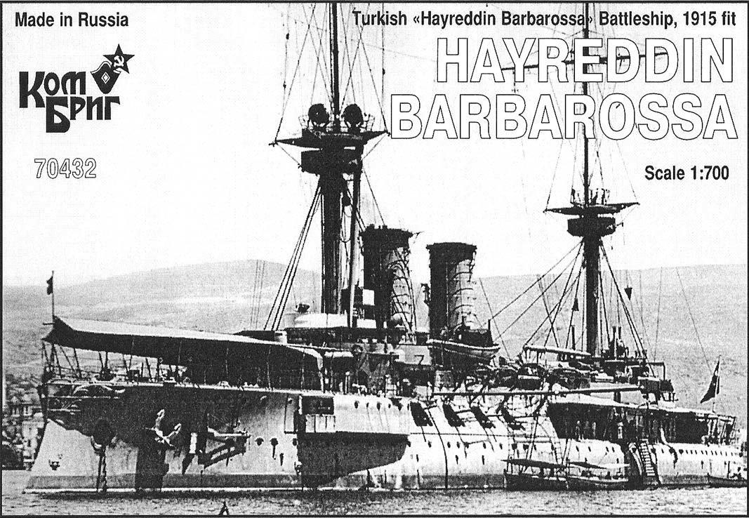 Combrig 1/700 Battleship Hayreddin Barbarossa, Turkey, 1915, resin kit #70432PE