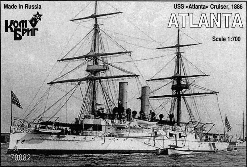 Combrig 1/700 Cruiser USS Atlanta, 1886, resin kit #70082PE