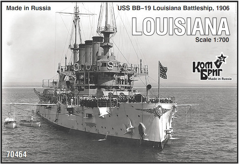 Combrig 1/700 Battleship USS Louisiana BB-19, 1906, resin kit #70464PE