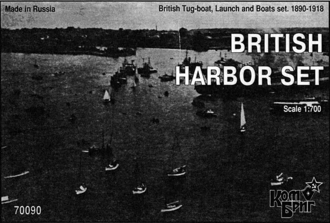 Combrig 1/700 British Harbor Set, 1890-1918, resin kit #70090
